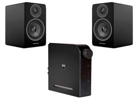 NAD D3020 V2 mas Acoustic Energy AE100